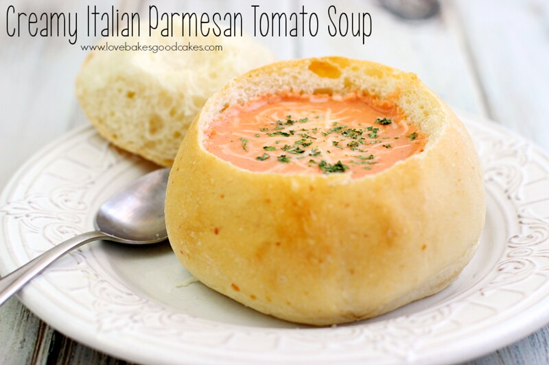 Keep your kitchen cool this summer with this Creamy Italian Parmesan Tomato Soup made in a slow cooker! #DinnerDone #shop