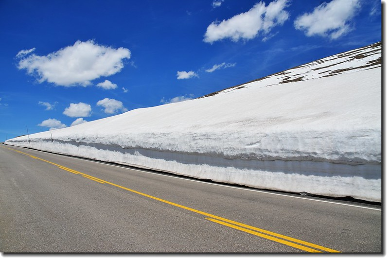 Snow wall along Trail Ridge Road 3