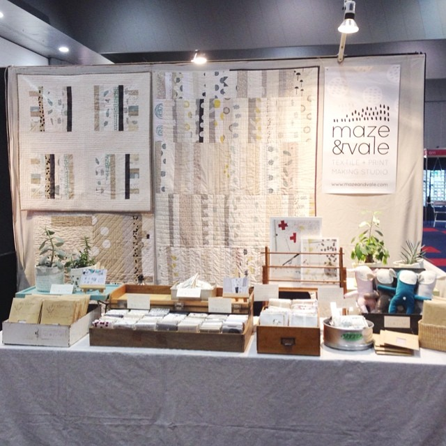 All set up at the Exhibition Centre in South Wharf for the Craft & Quilt Fair last week