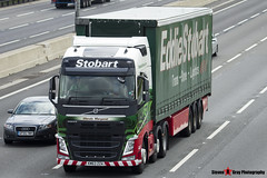 Volvo FH 6x2 Tractor with 3 Axle Curtainside Trailer - KM63 ZZA - H4997 - Wendy Margaret - Eddie Stobart - M1 J10 Luton - Steven Gray - IMG_3280