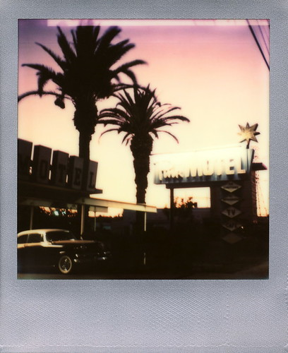 california road ca pink sunset toby sun color tree classic film car silhouette sign silver project polaroid sx70 for star mirror la los automobile san neon angeles wing motel headlights palm grill tip bumper fender cameras valley frame type fernando instant hood studebaker sonar hancock bonnet windscreen edition radiator impossible the sx70sonar impossibleproject tobyhancock impossaroid