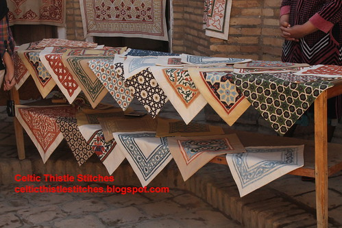 Embroidered cushions Khiva