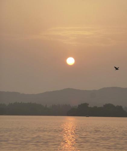 Zhejiang-Hangzhou-Lac Ouest-coucher du soleil 1 (9)