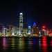 HK Skyline @ Night 1 by Daniel Y. Go