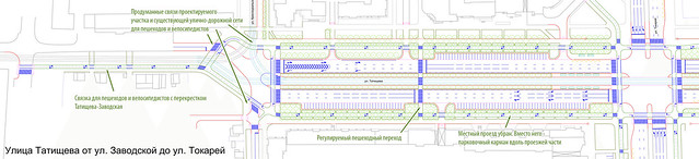 Предлагаемые улучшения на участке от Красноуральской до Токарей