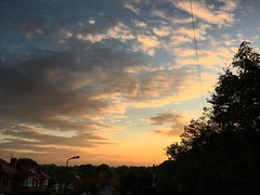Tonight's Sunset #sunset #blue #sky #clouds #landscape #london #evening #yellow #nature #autumn