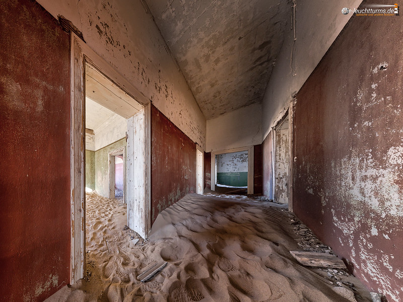 The desert had come back to Kolmanskop