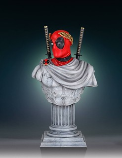 第一位死侍帝國皇帝登基!!Gentle Giant【死侍凱撒】Deadpool Caesar 半身胸像作品