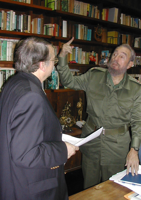 Ignacio Ramonet e Fidel Castro - Créditos: Divulgação