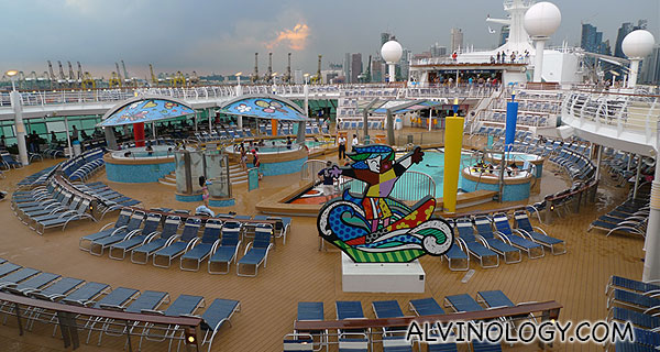 The magnificent pool deck