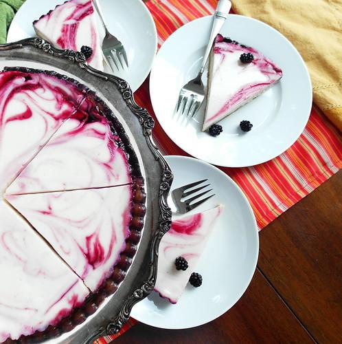 Blackberry Swirl Cheesecake Tart