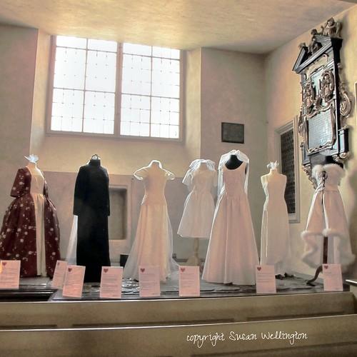 Wedding dress exhibition at Storkyrkan, Gamla Stan, Stockholm, Sweden by sawelli