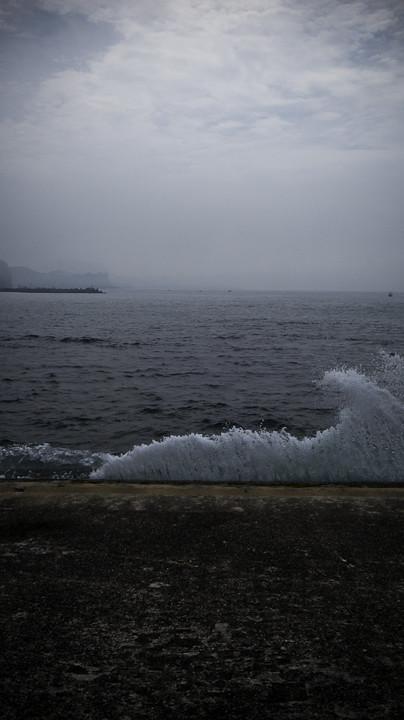 Concrete Beach Wave, Okitsu, Chiba, Japan