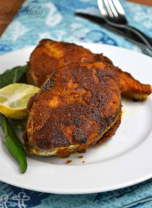 Besan fish fry recipe pan fried fish with chickpeas for Side dishes for fried fish