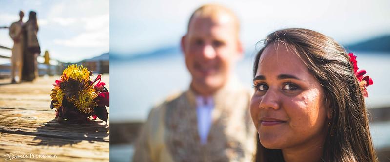 Orcas Island Wedding diptic