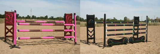 Fabrication de stickers personnalisés pour la customisation d'obstacle d'équitation. Réalisation en collaboration avec FB équestre.