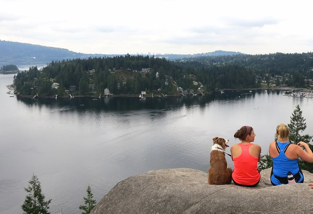 Well-earned rest at Quarry Rock