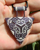 Beautiful purple and white geometric ornament beaded pendant made with Miyuki beads