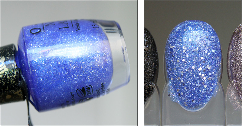 OPI Kiss me at midnight swatch