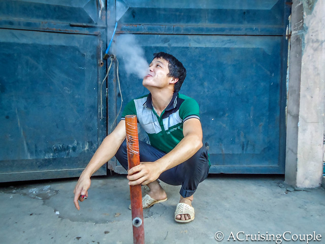 Smoking Tobacco Pipe Vietnam