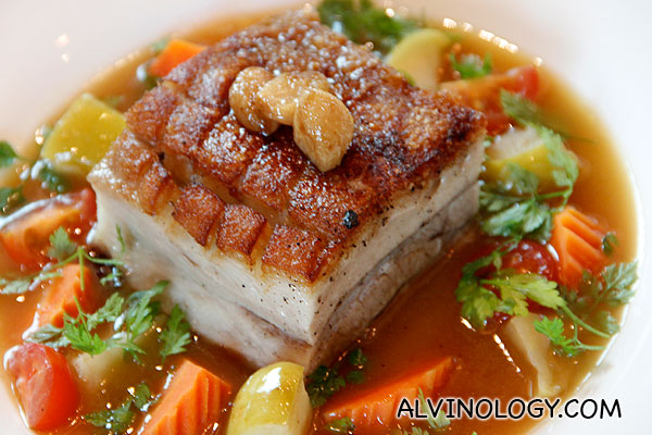 PRESSED PORK BELLY (Melt in your mouth pork belly served with braised ...