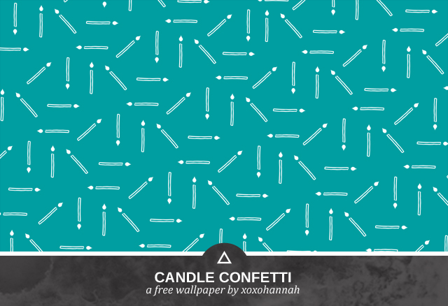 Candle Confetti Desktop Background Preview in Teal