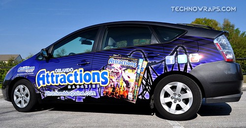 Toyota Partial car wrap in Orlando
