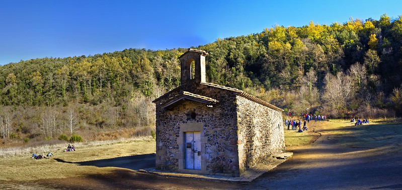 La Garrotxa (Santa Pau. Volcà de Santa Margarida. Iglesia de Santa Margarida)