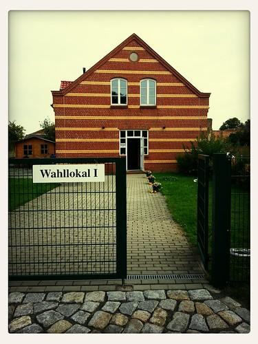 Wahllokal I zur Bundestagswahl in Ragow