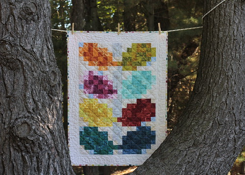 Pixelated Vine Quilt - a