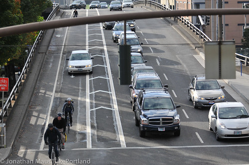 New bike lane on Hawthorne Bridge viaduct-8