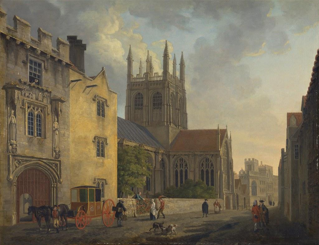 Michael Angelo Rooker - Merton College, Oxford (c.1771)