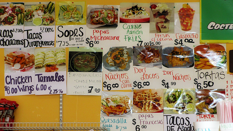 Menu From Paleteria La Michoacana In Des Moines Iowa Flickr