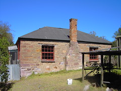 This is what is left of the Crooked Billet Hotel in Nairne. Built im 1845. It is behind the Millers Arms Hotel.  It closed in 1860. Early Council meetings for Nairne were held in this Georgian style building.