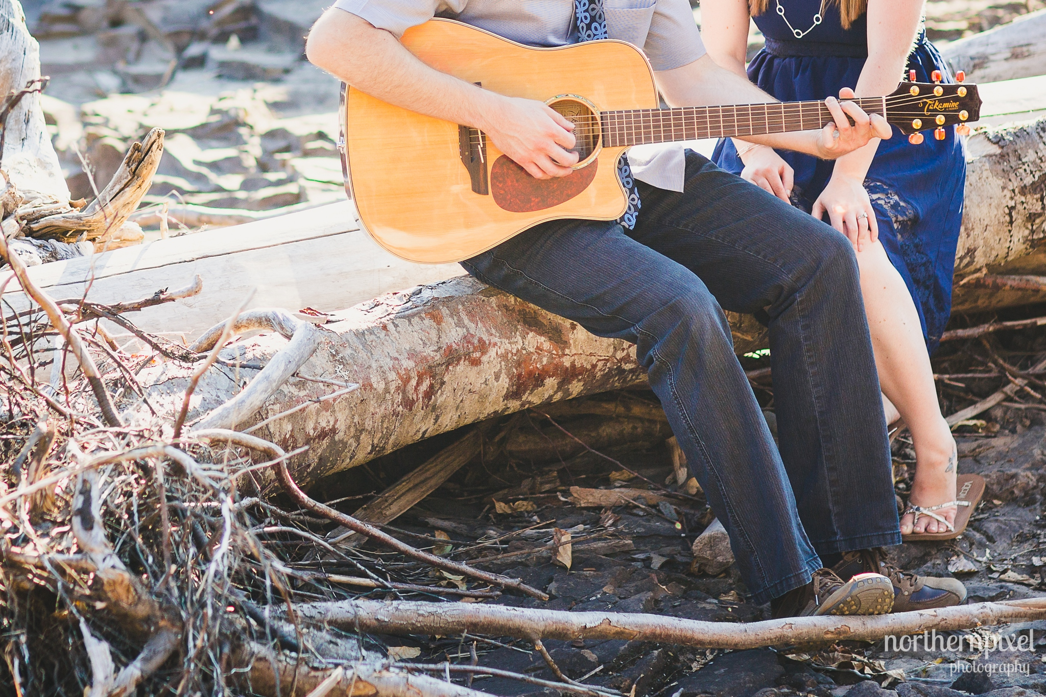 Guitar Engagement Session at Eddie Park in Telkwa BC