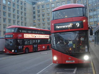 London United LT72, LT80 on Route 9, Hammersmith