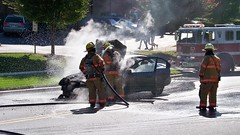 Car fire, October 19, 2008