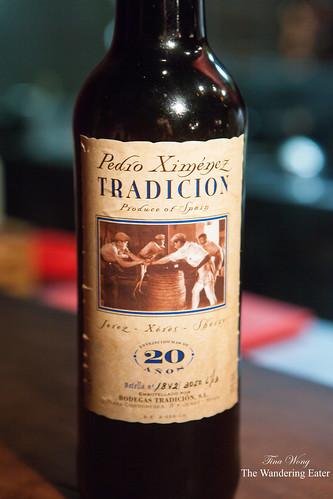 """Pedro Ximenez """"Bodegas Tradicion"""" 20 Year-Old Sherry"""