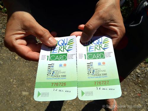 Tras adquirir la Cinque Terre Card, necesaria para recorrer el sendero