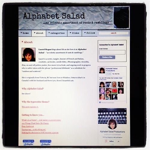 #fmsphotoaday November 13 - Part of me (my blog - alphabetsalad.com)