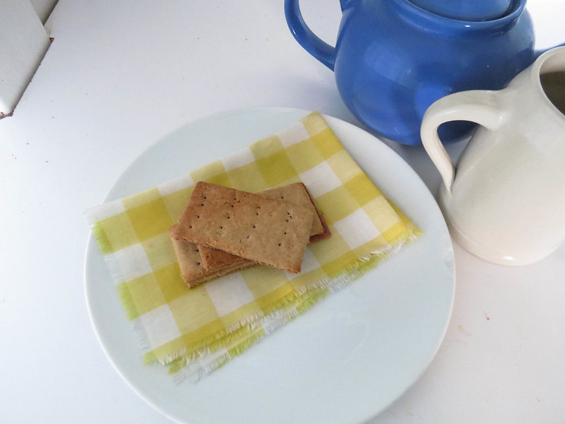 Buckwheat Graham Crackers and plate