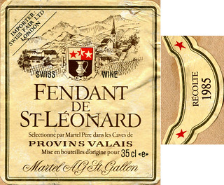 Switzerland - Fendant de St-Léonard 1985