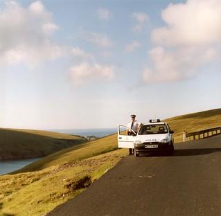 Northern Constabulary - Unst beat vehicle 1995 on Saxa Vord hill (Shetland) Scotland