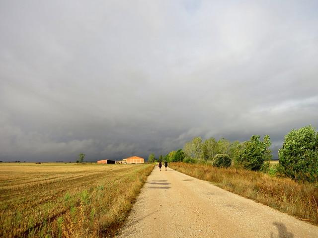 Walking Towards the Rain (in Spain)