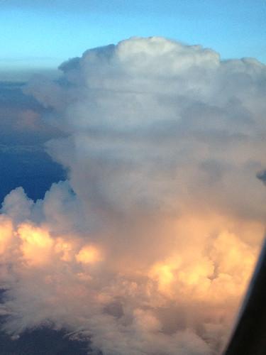 sky himalayas thaiairways boeing777 antisunset