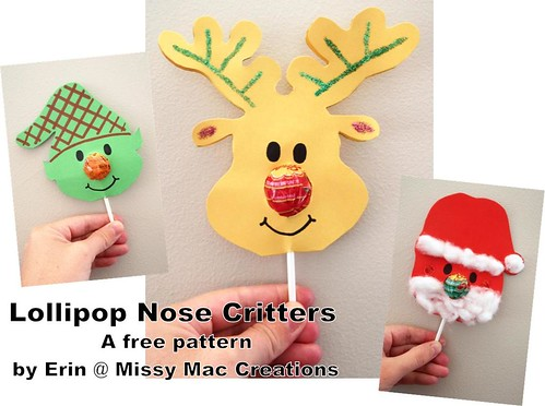 Lollipop Nose Critters - free pattern