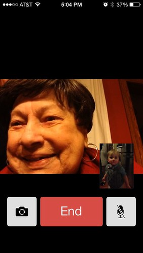 Thanksgiving Facetime Chat with Auntie Vi