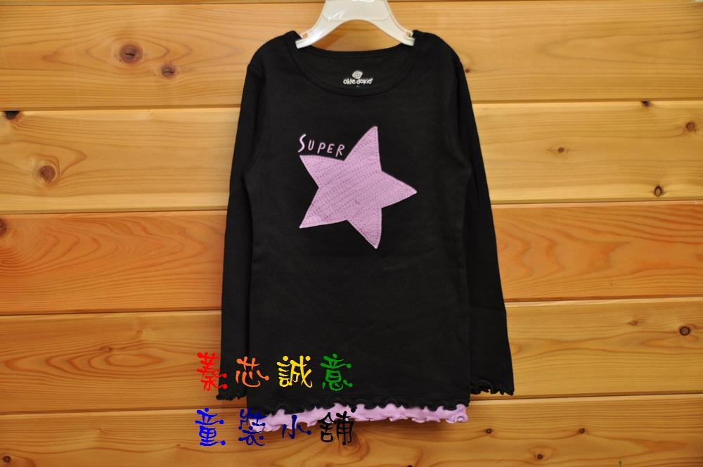 【T178】原單美國okie dokie 簡單大圖百搭實穿~棉質長袖T恤~超特價出清2T-5T