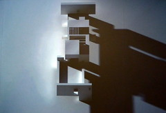 Hatton Gallery 2013: animations of a virtual sun passing over a digital model of Victor Pasmore's Apollo Pavilion, Peterlee...