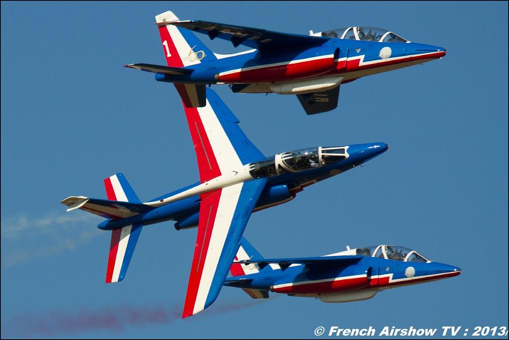 Patrouille de France 2013 60 ans au Free Flight World Masters Valence 2013 par bleu ciel airshow 2013,